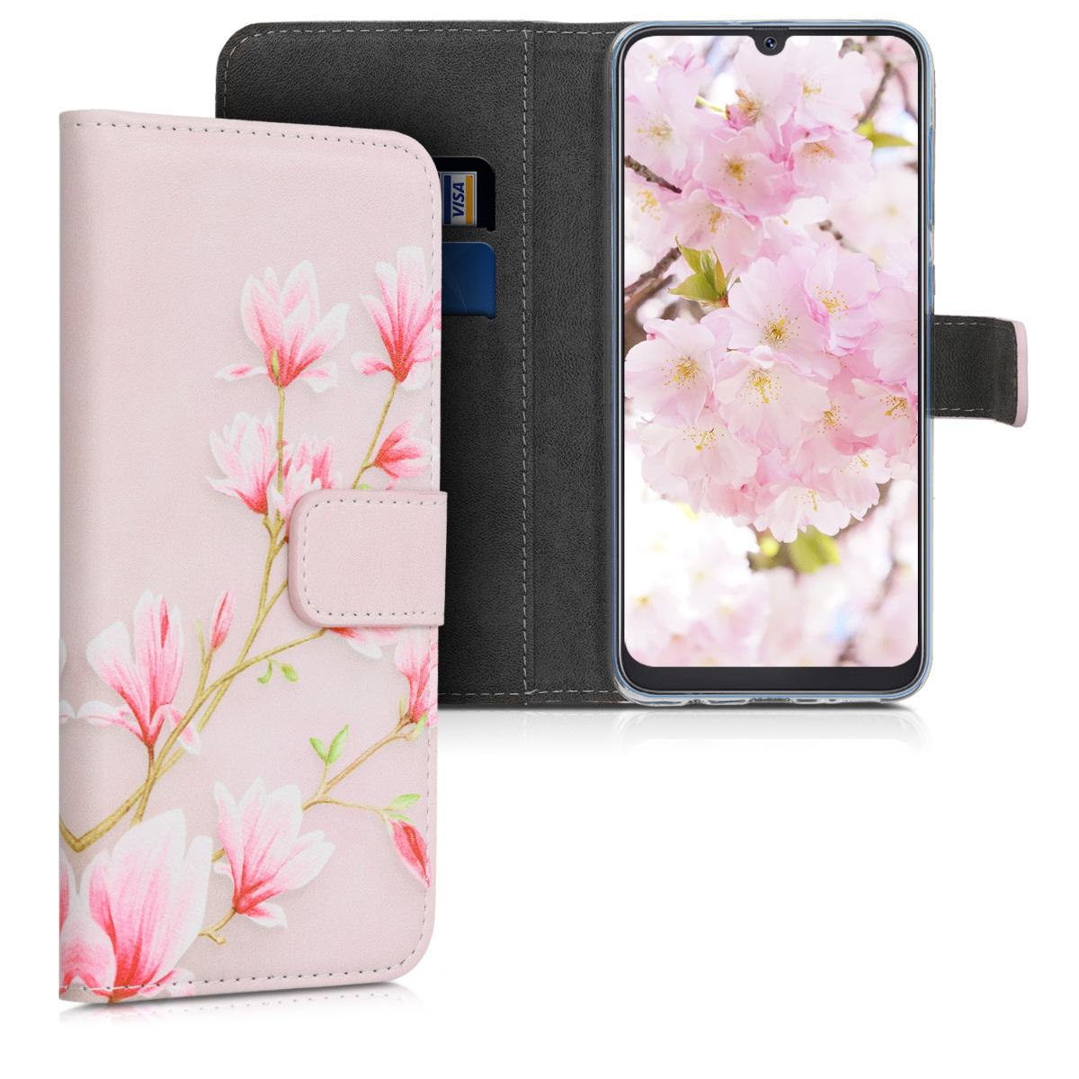 KW Θήκη - Πορτοφόλι Samsung Galaxy A50 - Light Pink / White / Dusty Pink (48062.04)