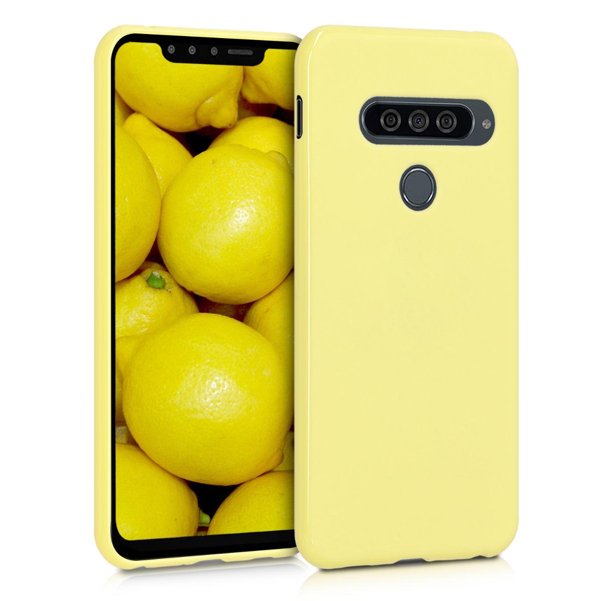 KW Θήκη Σιλικόνης LG G8s ThinQ - Yellow Matte (48068.49)