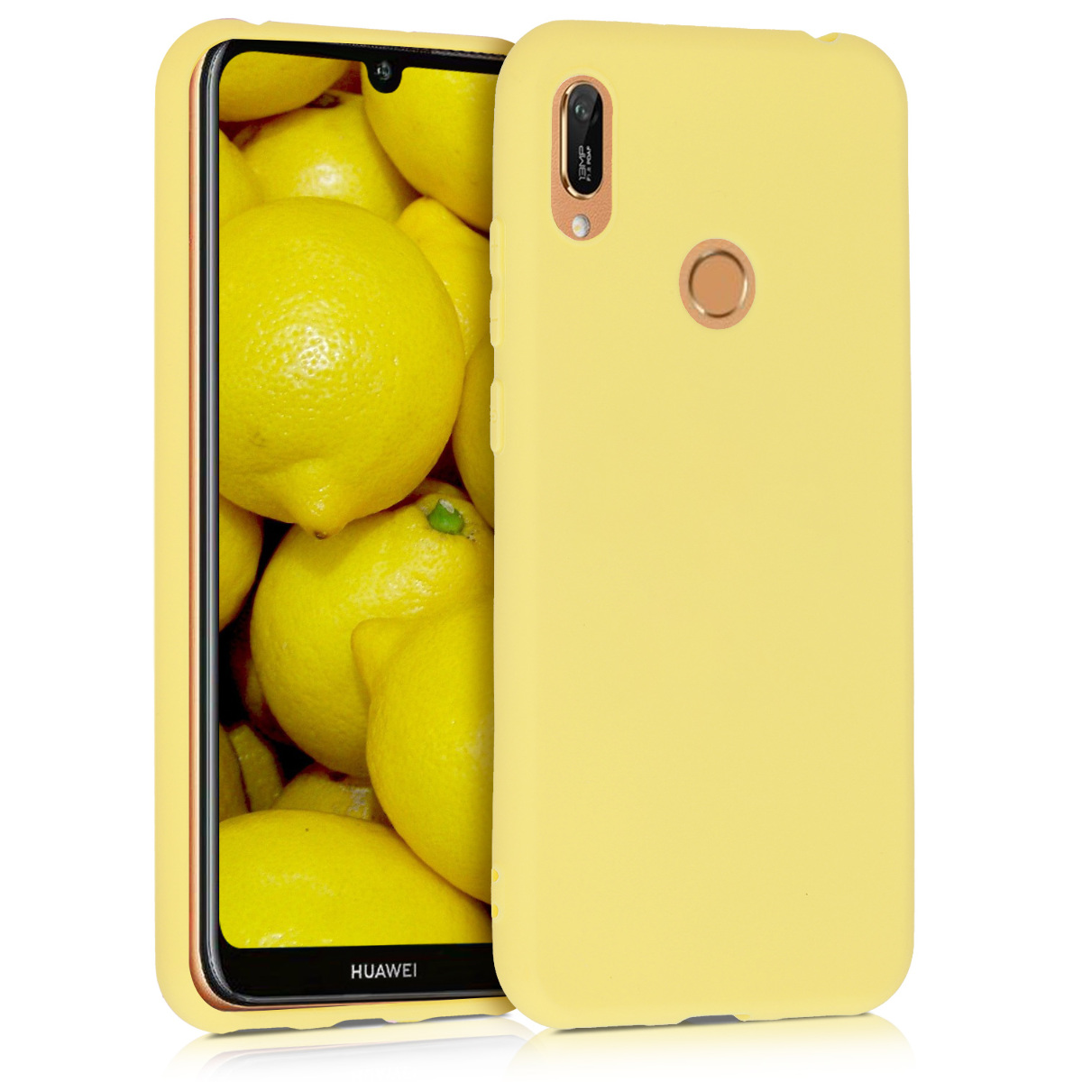 KW Θήκη Σιλικόνης  Huawei Y6 2019 - Yellow Matte (48122.49 )