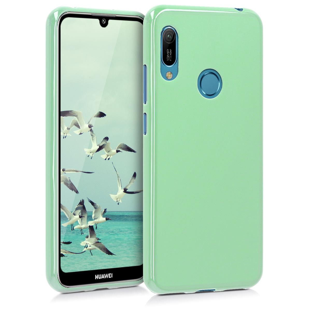 KW Θήκη Σιλικόνης Huawei Y6 2019 - Mint Matte (48122.50)