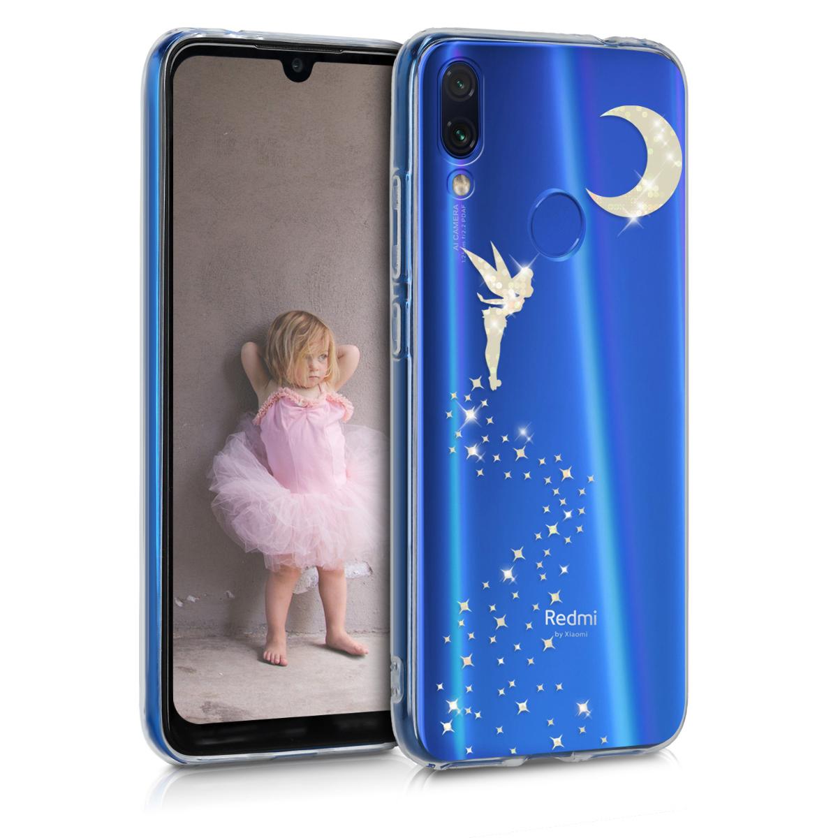 KW Θήκη Σιλικόνης Xiaomi Redmi Note 7 / Note 7 Pro - Glittery Fairy - Gold / Transparent (48154.06)