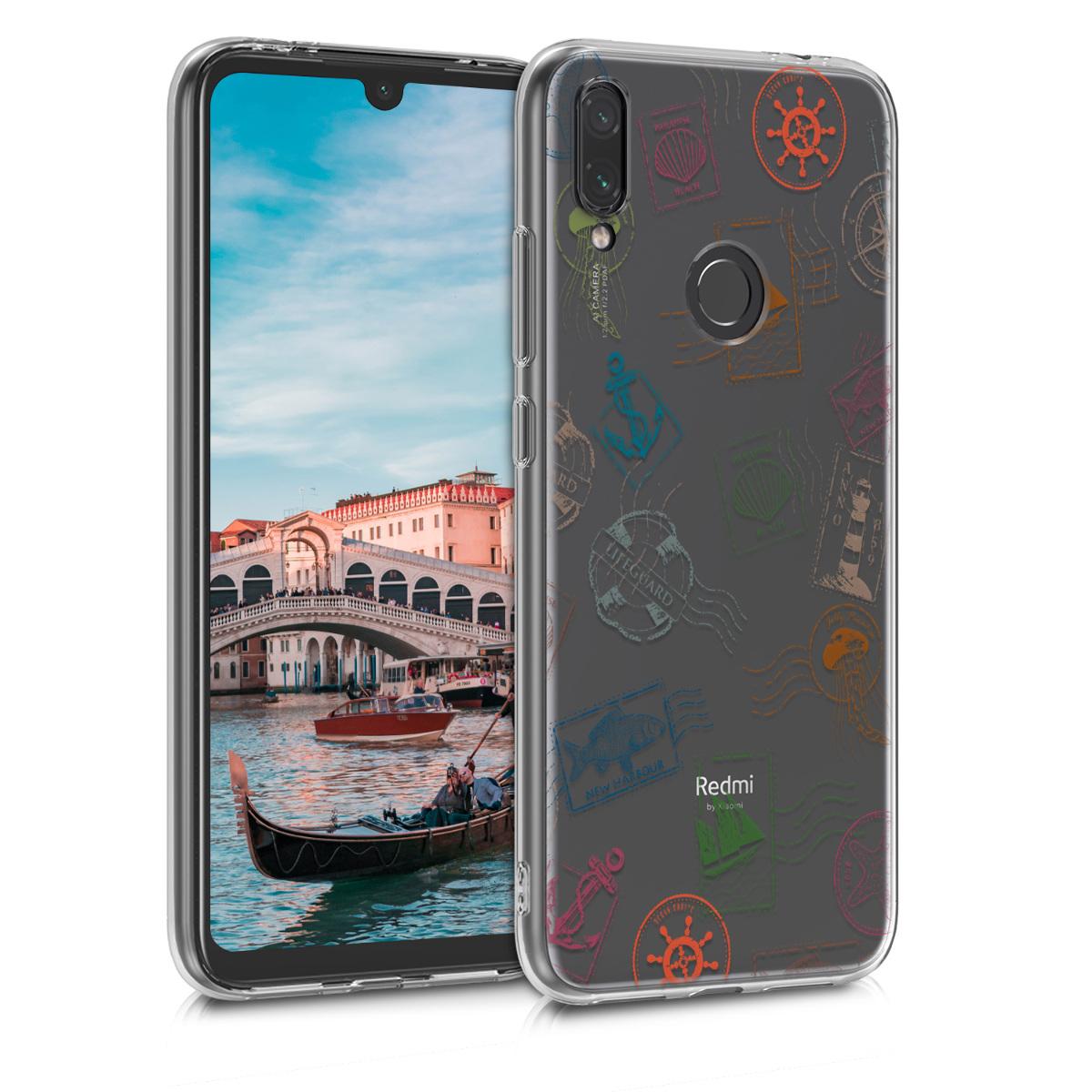 KW Θήκη Σιλικόνης Xiaomi Redmi Note 7 / Note 7 Pro - Green / Blue / Transparent (48156.04)