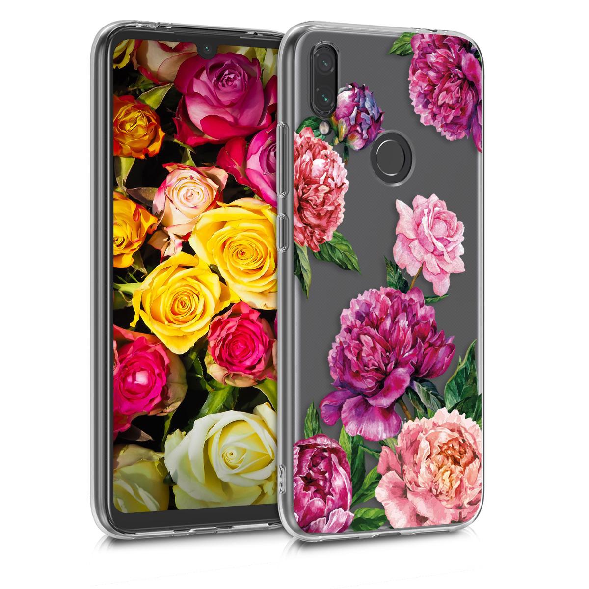 KW Θήκη Σιλικόνης Xiaomi Redmi Note 7 / Note 7 Pro - Violet / Light Pink / Transparent (48156.08)