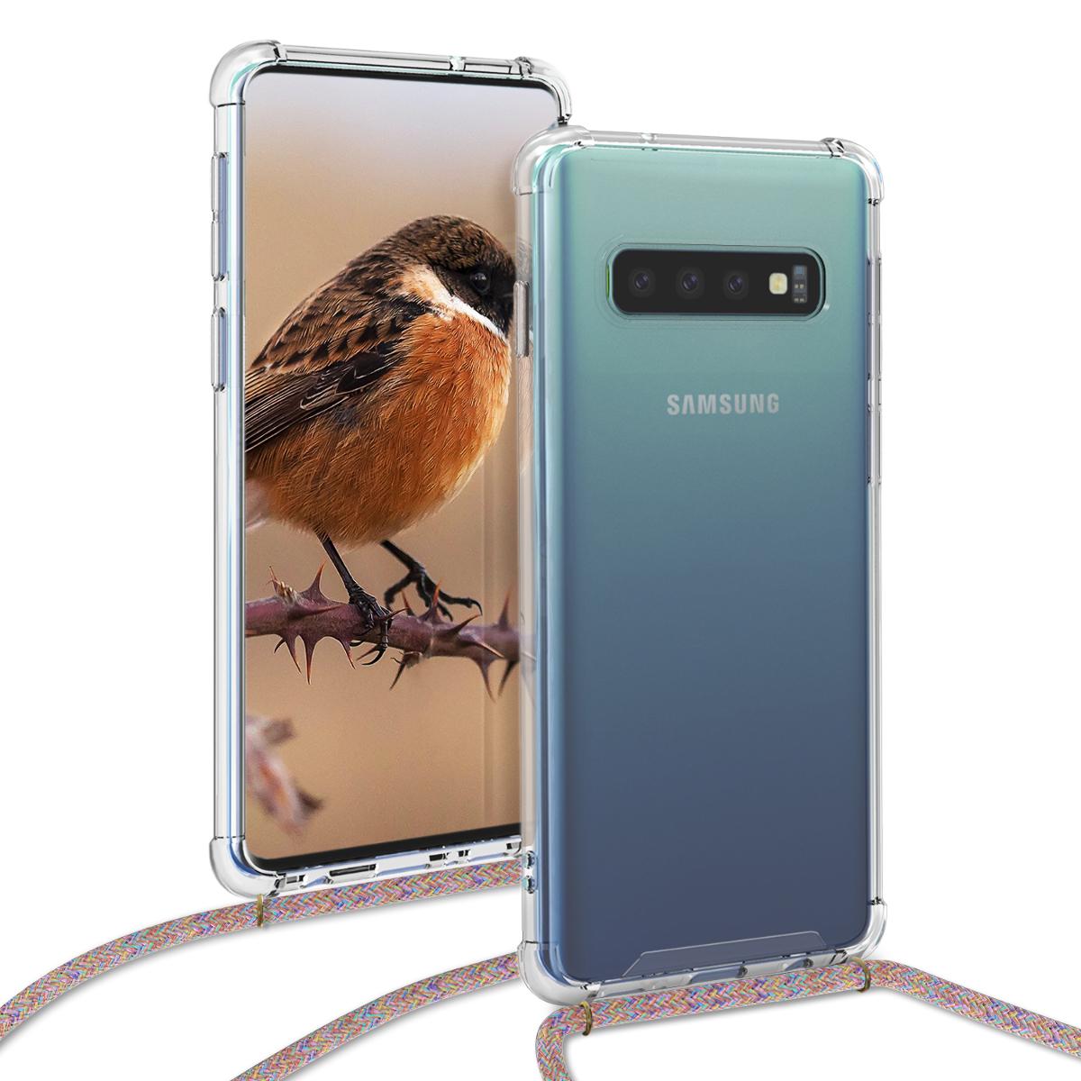 KW Θήκη Σιλικόνης με Λουράκι Samsung Galaxy S10 - Transparent (48163.32)