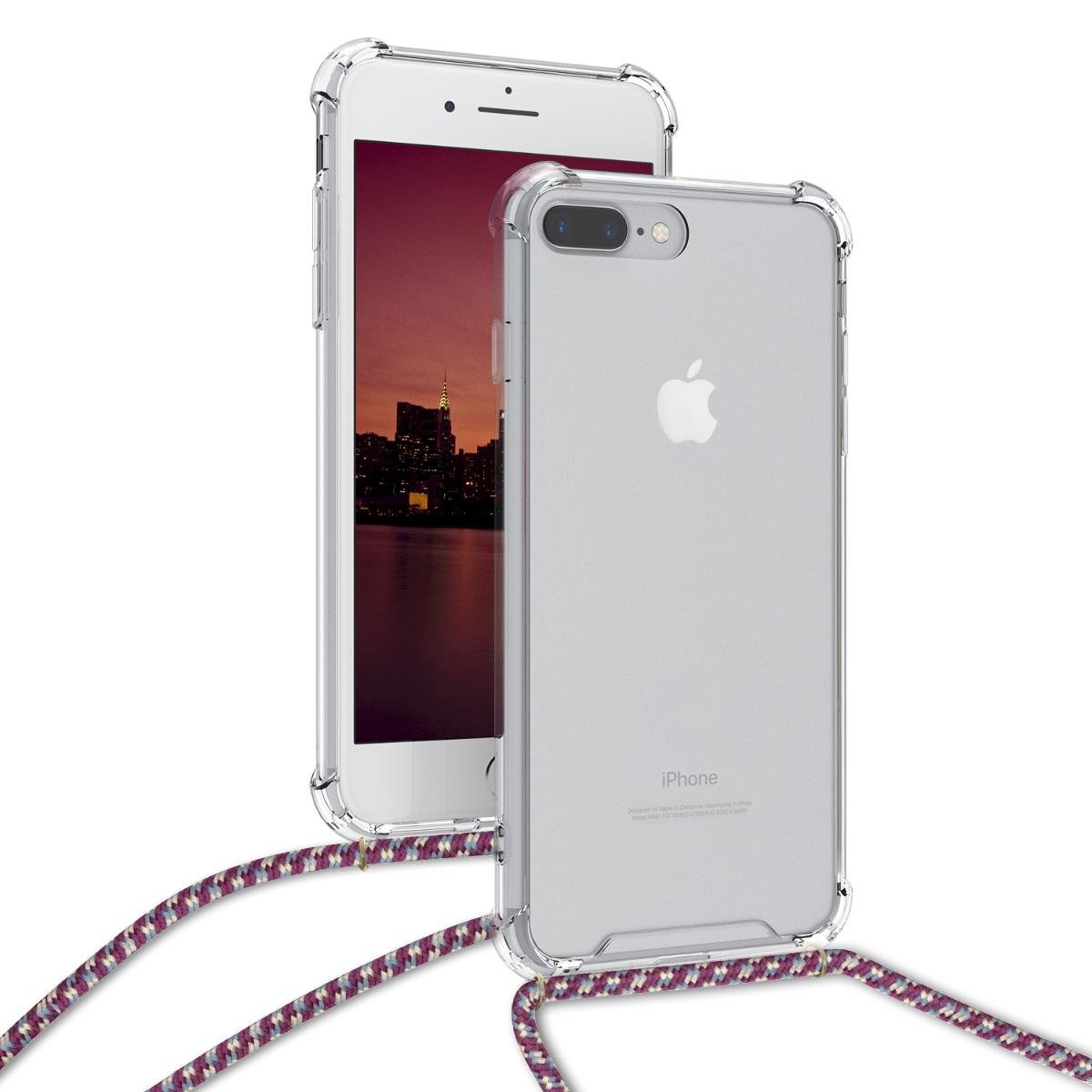 KW Θήκη Σιλικόνης με Λουράκι Apple iPhone 7 Plus / 8 Plus - Transparent (48204.38)