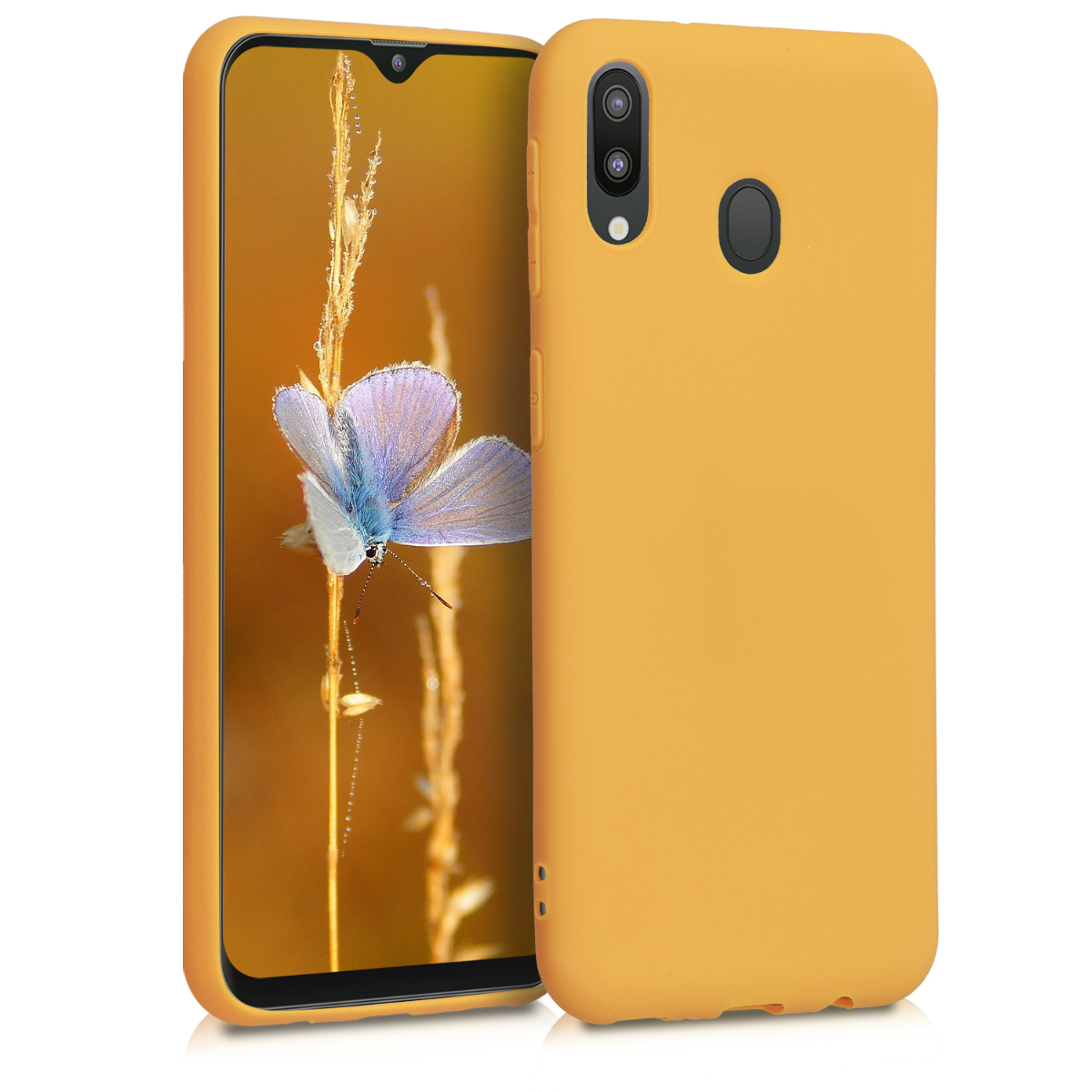 KW Θήκη Σιλικόνης Samsung Galaxy M20 - Honey Yellow (48309.143)