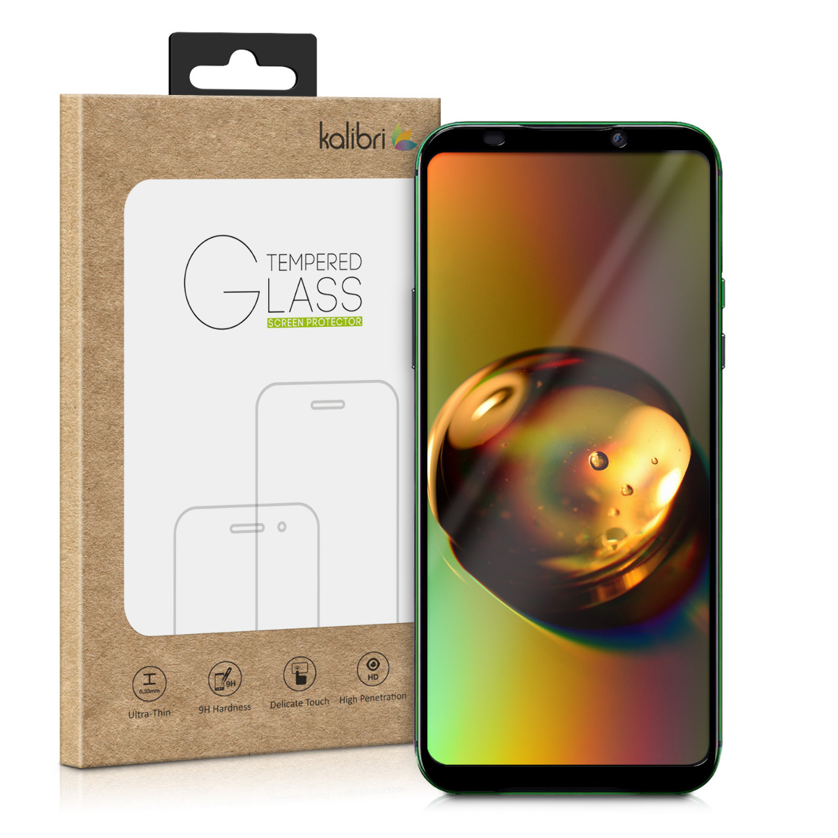 Kalibri Tempered Glass - Fullface Αντιχαρακτικό Γυαλί Οθόνης Xiaomi Black Shark 2 (48323.1)