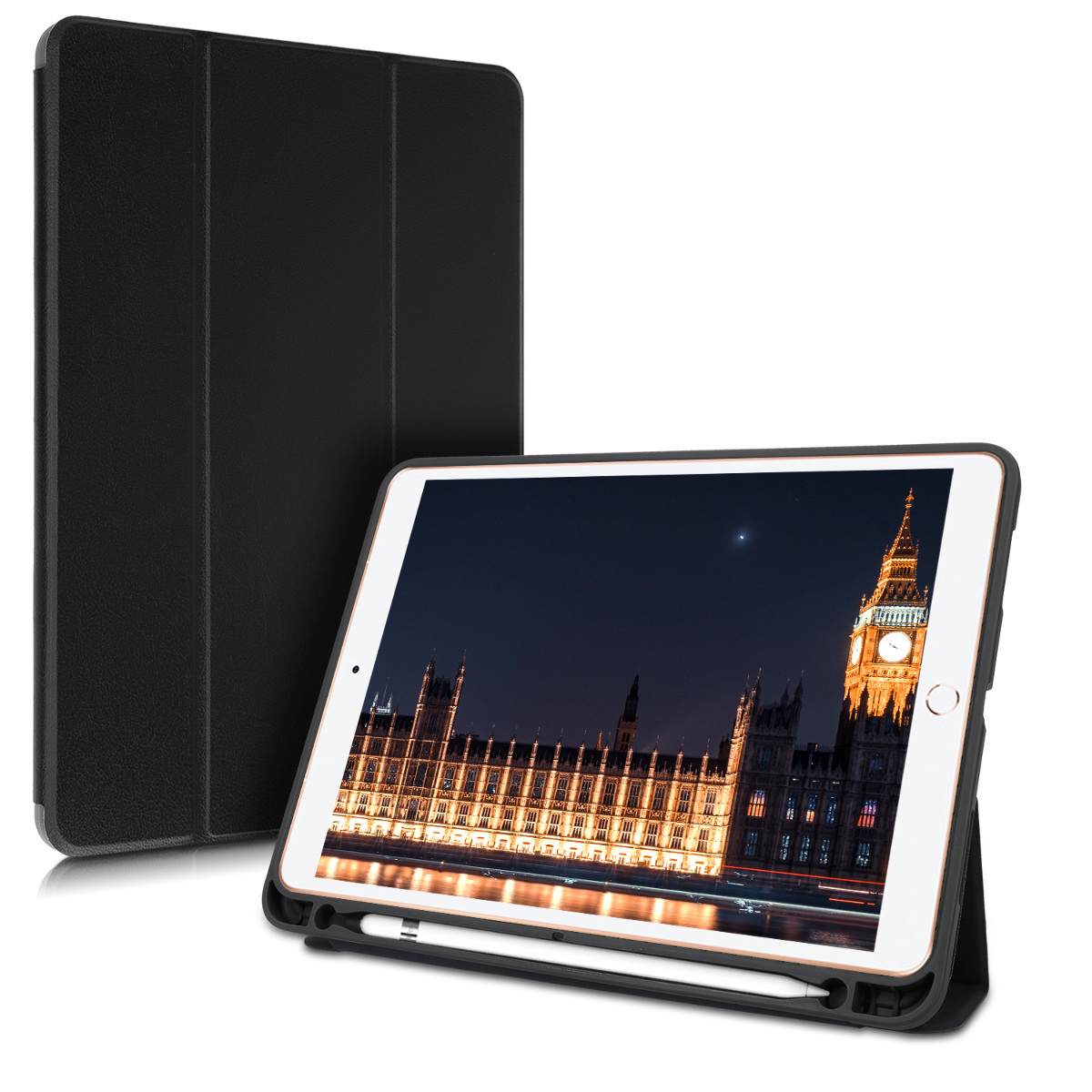 KW Θήκη Apple iPad Air 3 2019 - Smart Cover with Pen Holder - Black (48345.01)
