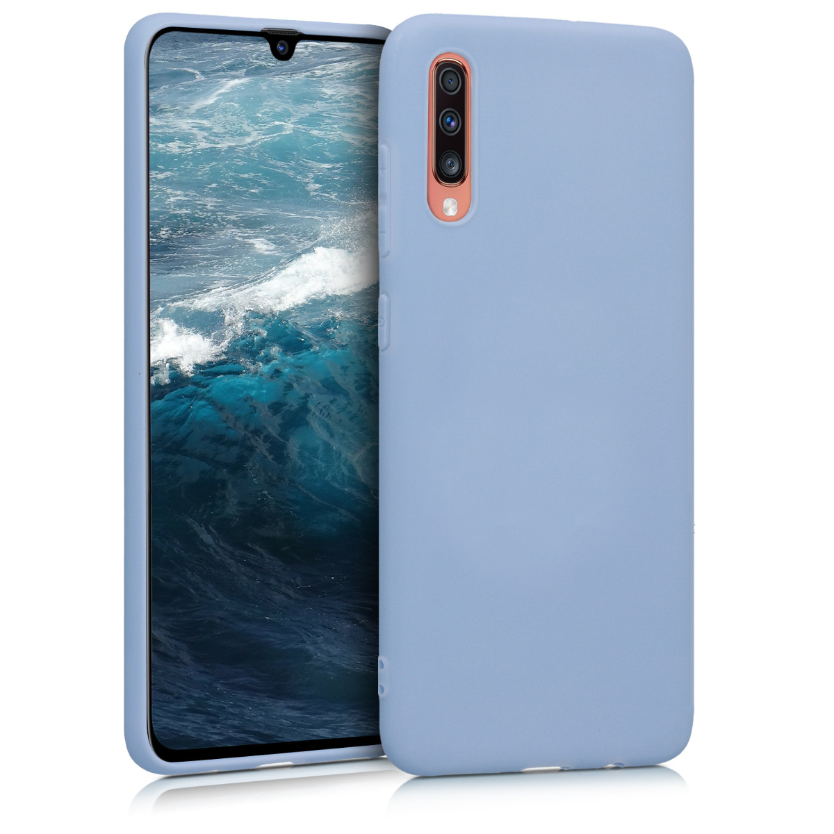 KW Θήκη Σιλικόνης Samsung Galaxy A70 - Light Blue Matte (48427.58)