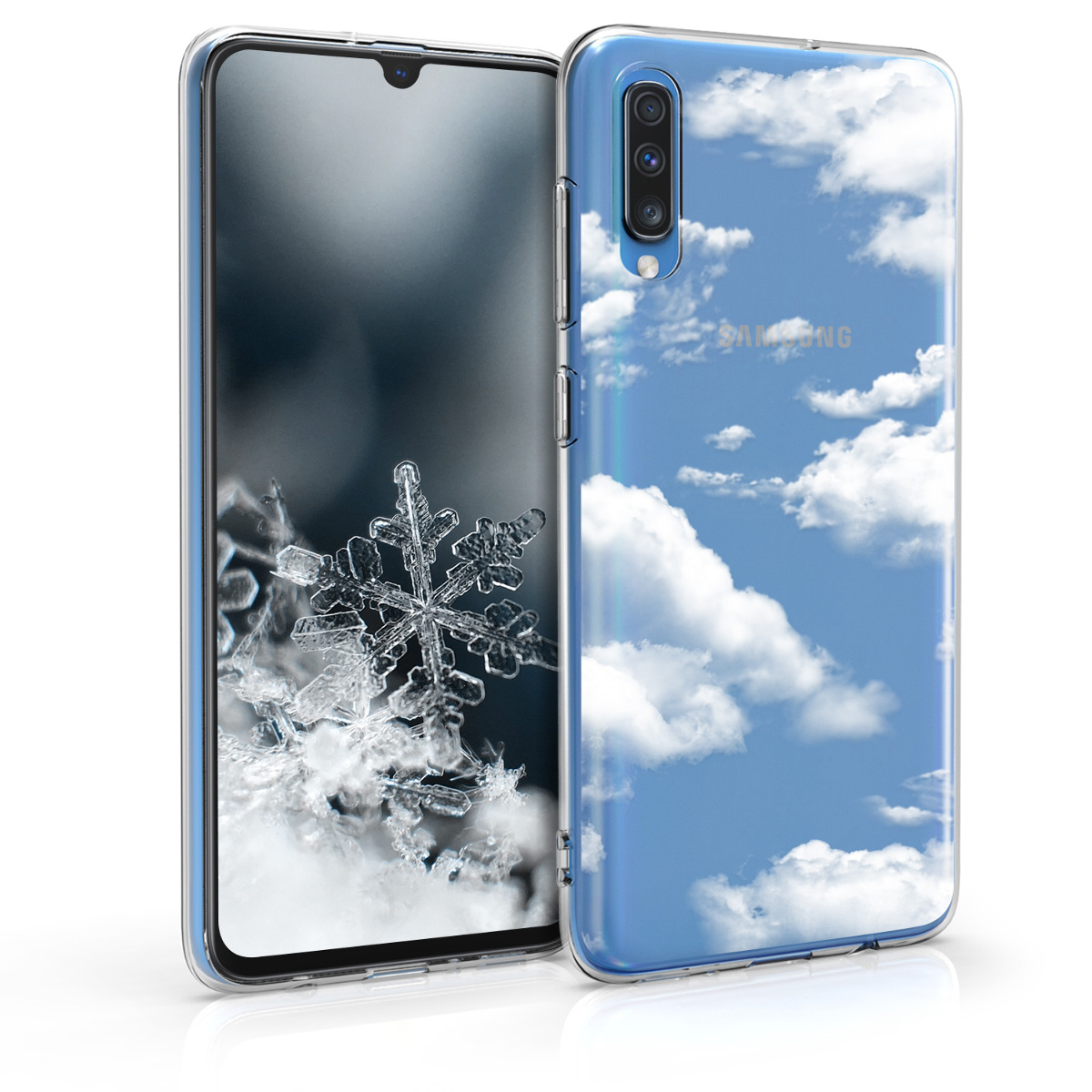 KW Θήκη Σιλικόνης Samsung Galaxy A70 - Bunch of Clouds White / Transparent (48433.14)