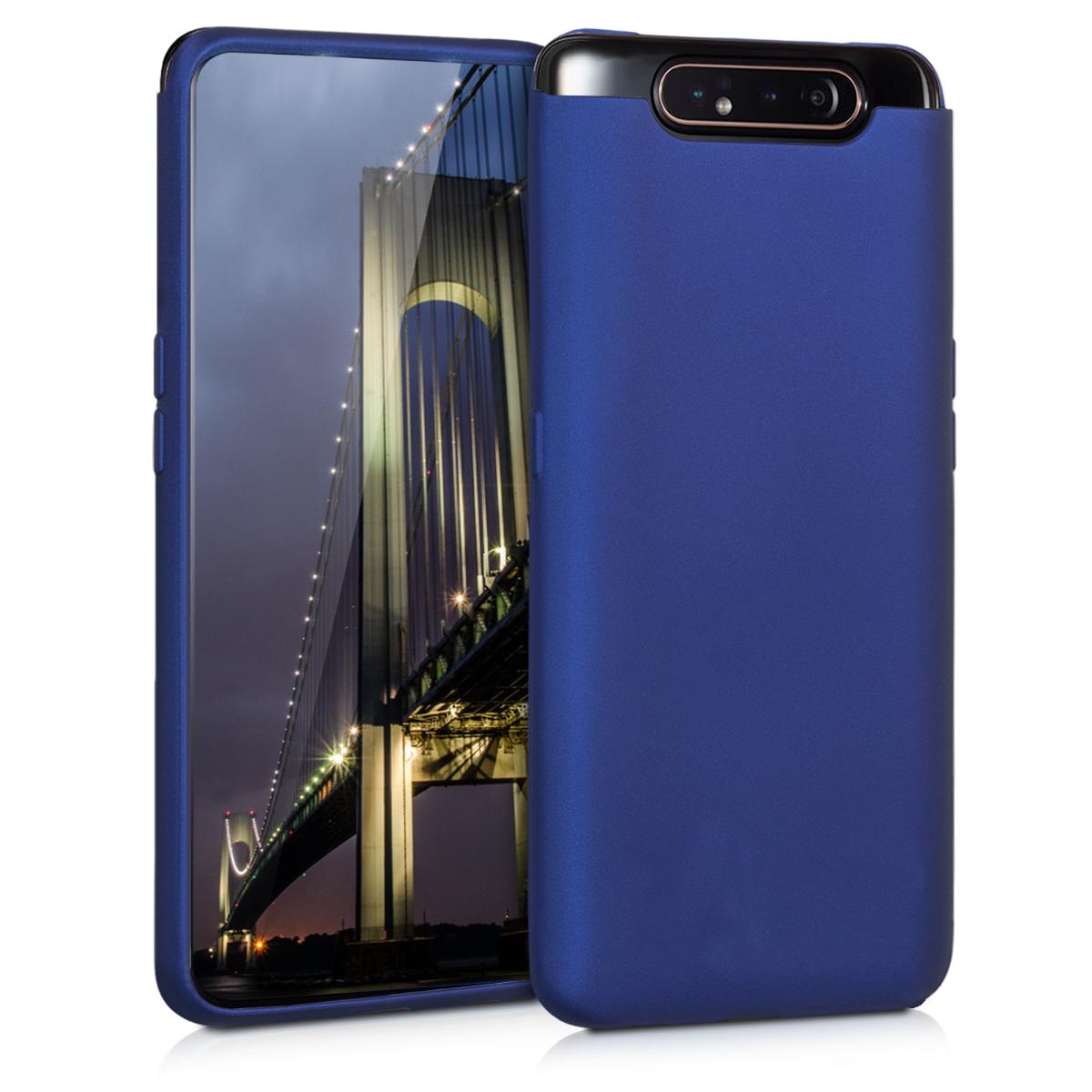KW Θήκη Σιλικόνης Samsung Galaxy A80 - Metallic Blue (48441.64)