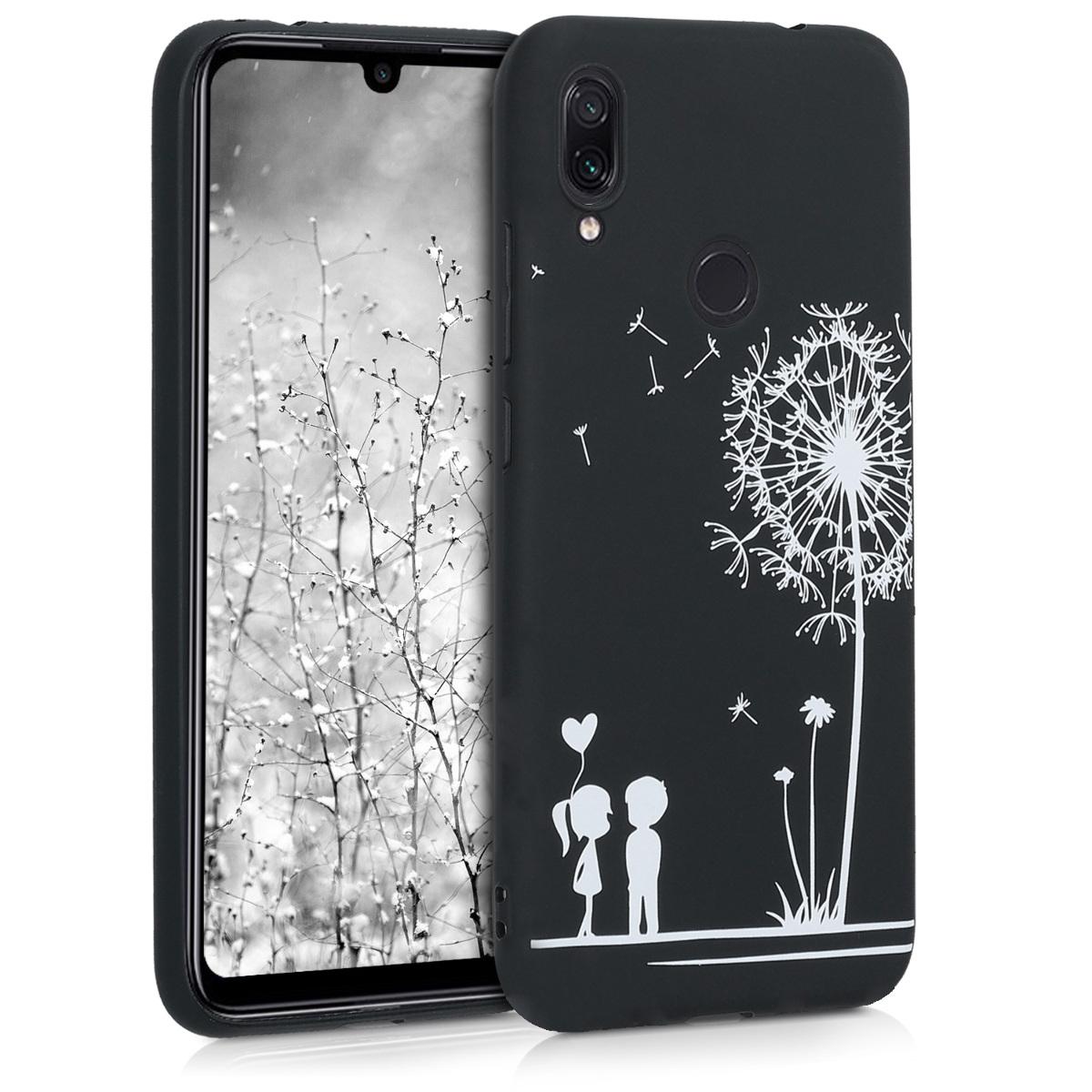 KW Θήκη Σιλικόνης Xiaomi Redmi Note 7 / Note 7 Pro - White / Black (48449.04)