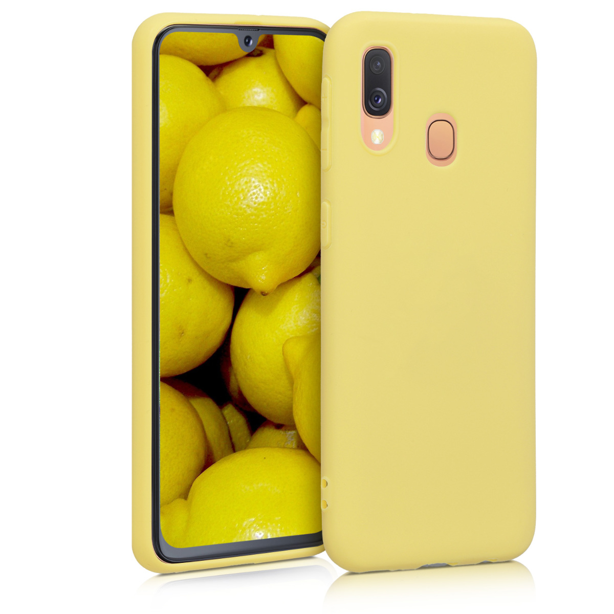 KW Θήκη Σιλικόνης Samsung Galaxy A40 - Yellow Matte (48547.49)