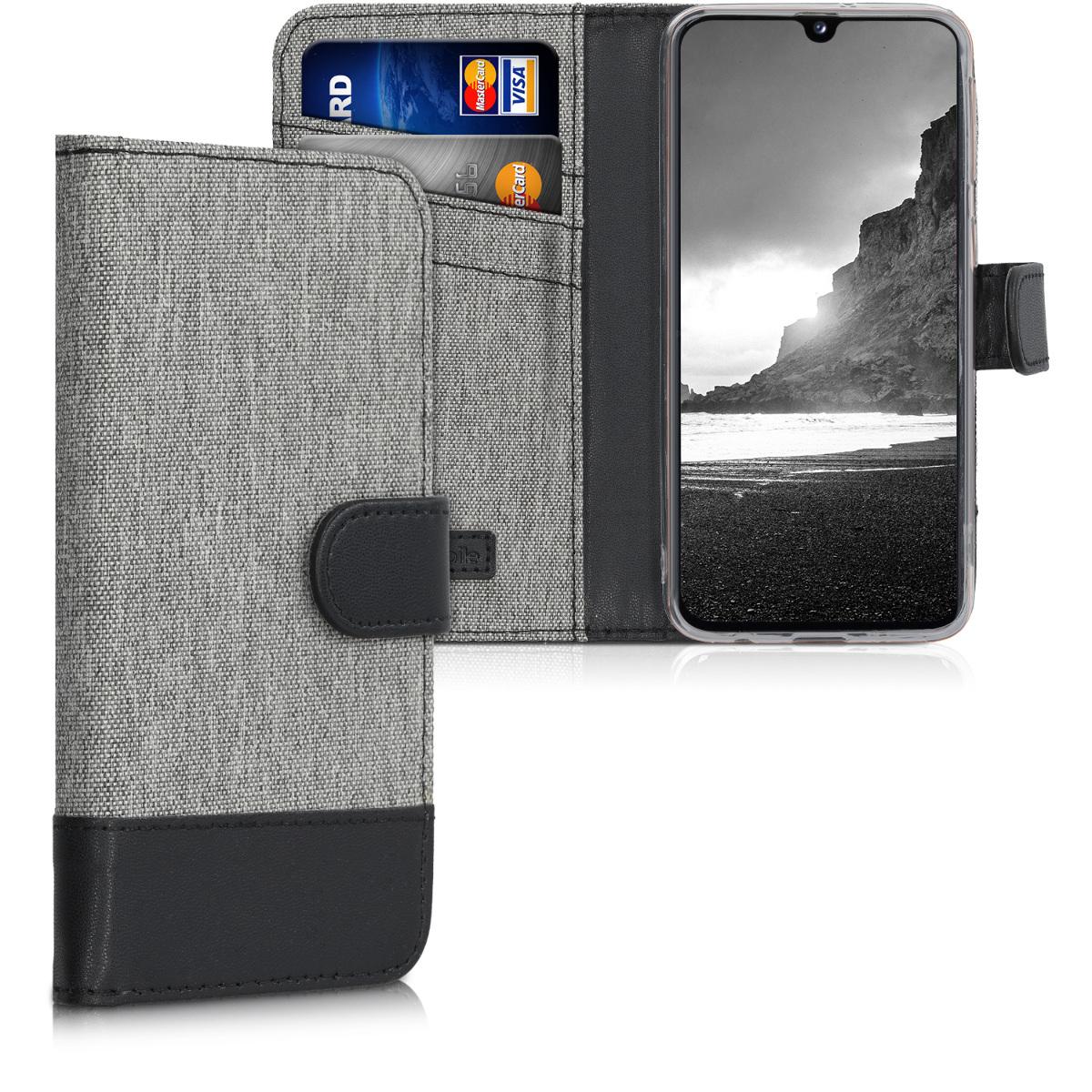 KW Θήκη - Πορτοφόλι Samsung Galaxy A40 - Grey / Black (48548.03)
