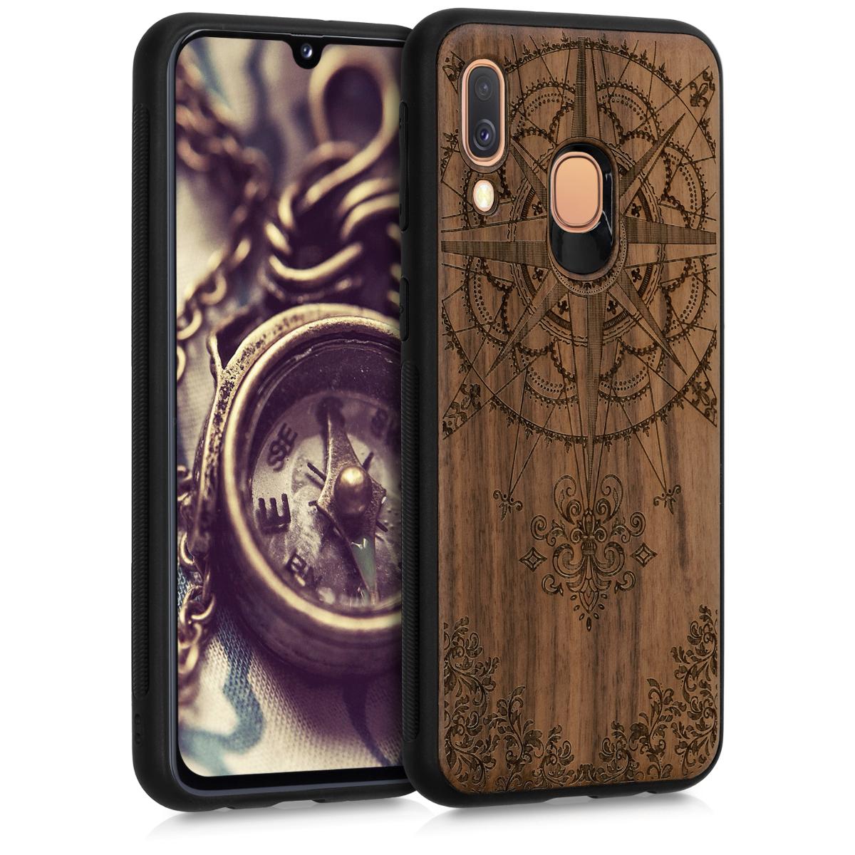 KW Σκληρή Ξύλινη Θήκη - Samsung Galaxy A40 - Baroque Compass (48552.01)