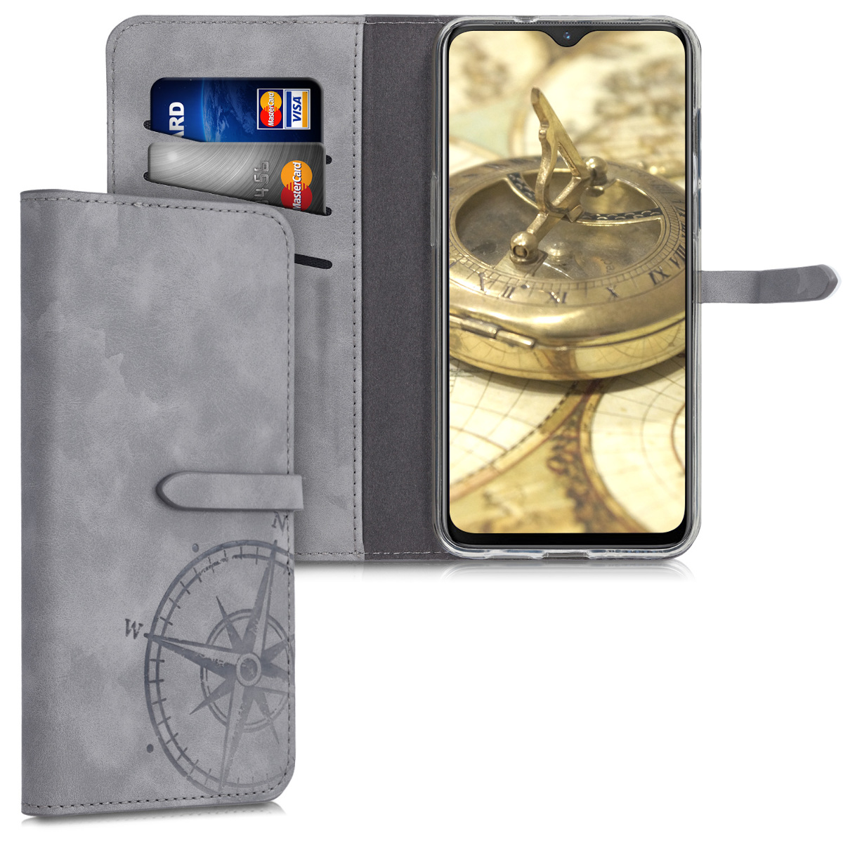 KW Θήκη Πορτοφόλι OnePlus 7 - Grey (48582.01)