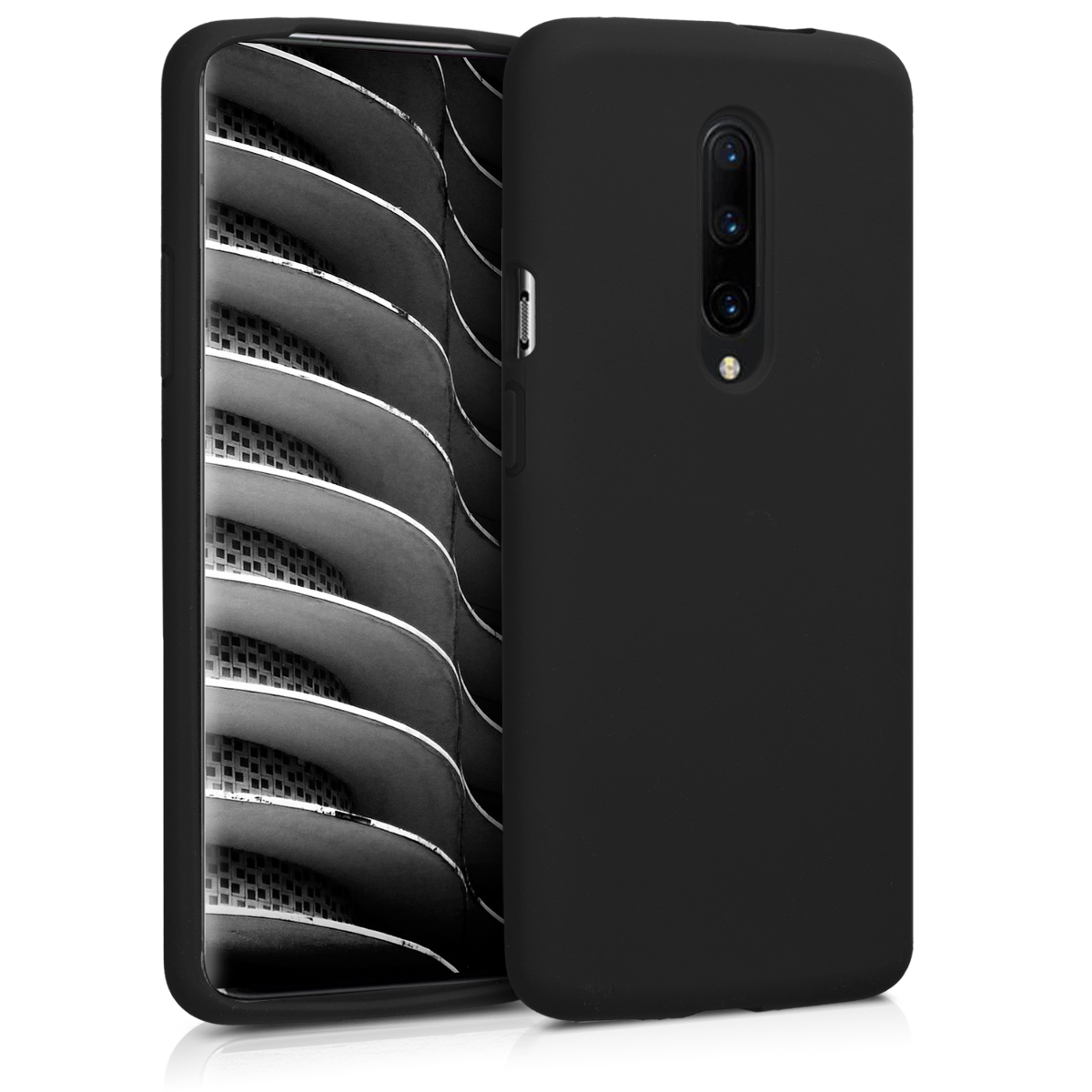 KW Θήκη Σιλικόνης OnePlus 7 Pro - Soft Flexible Rubber Protective Cover - Black (48595.01)