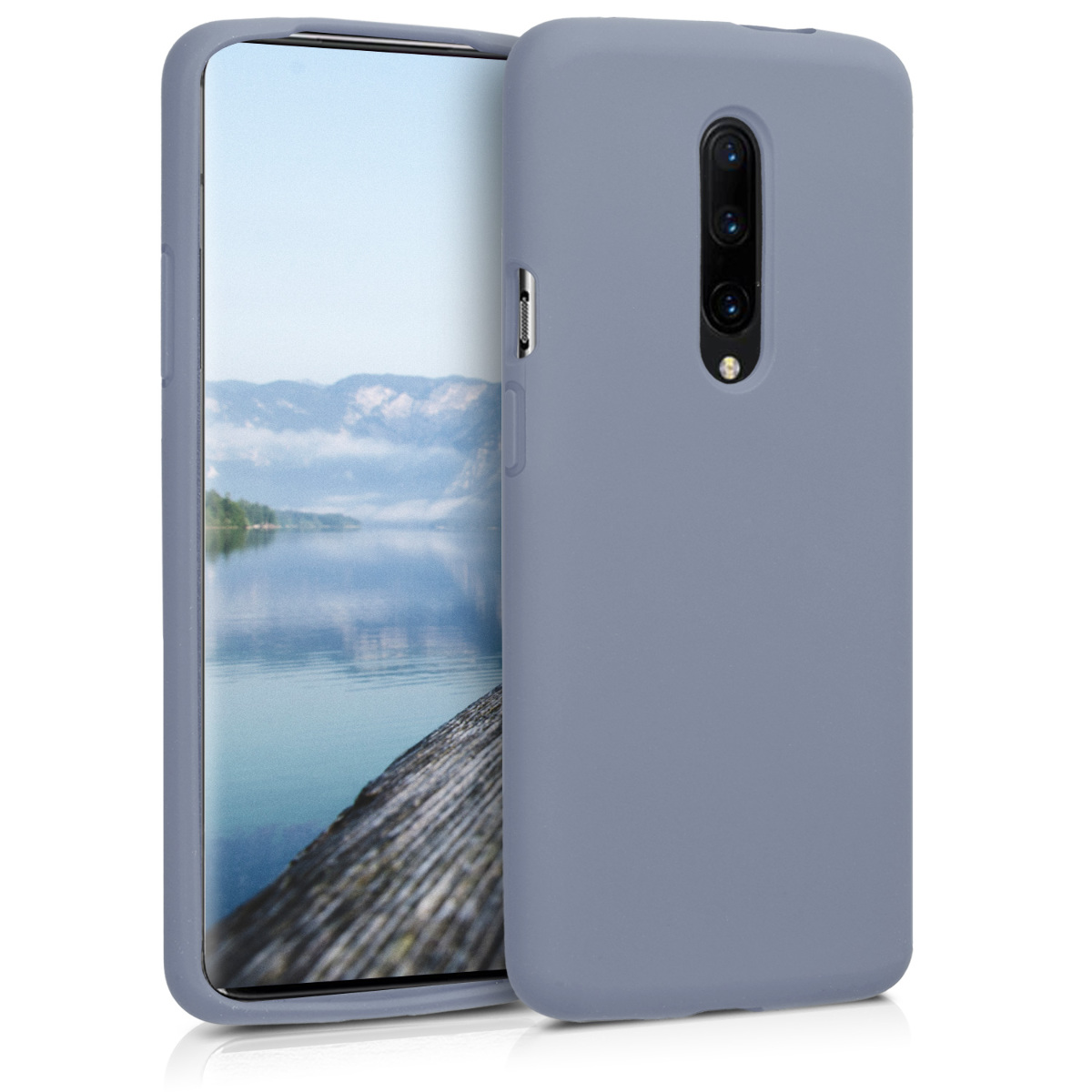 KW Θήκη Σιλικόνης OnePlus 7 Pro - Soft Flexible Rubber Protective Cover - Lavender Grey (48595.130)