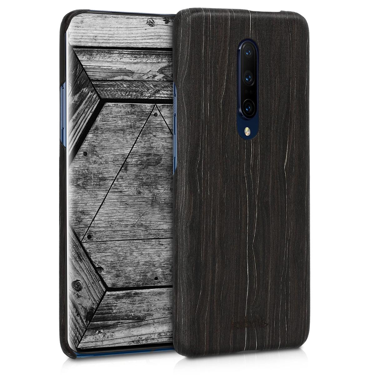 Kalibri Σκληρή Ξύλινη Θήκη OnePlus 7 Pro - Dark Brown (48597.01)