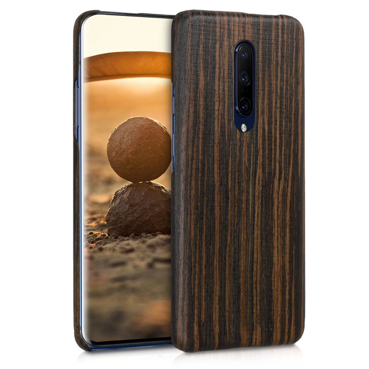 Kalibri Σκληρή Ξύλινη Θήκη OnePlus 7 Pro - Brown (48597.18)
