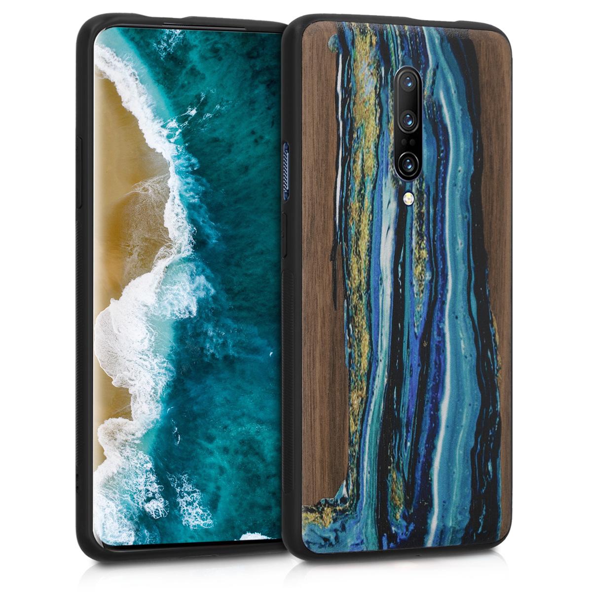 KW Σκληρή Ξύλινη Θήκη OnePlus 7 Pro - Watercolor Waves (48598.01)