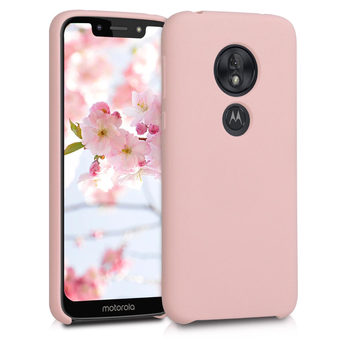 KW Θήκη Σιλικόνης Motorola Moto G7 Play - Soft Flexible Rubber Protective Cover - Dusty Pink (48631.10)