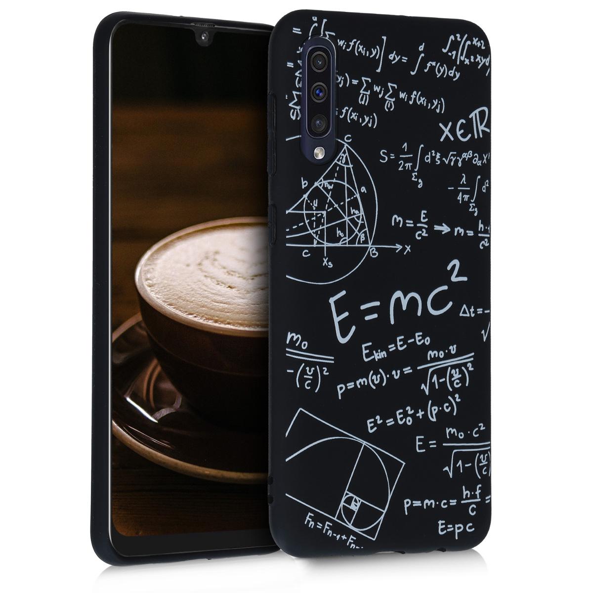 KW Θήκη Σιλικόνης Samsung Galaxy A50 - White / Black (48656.03)