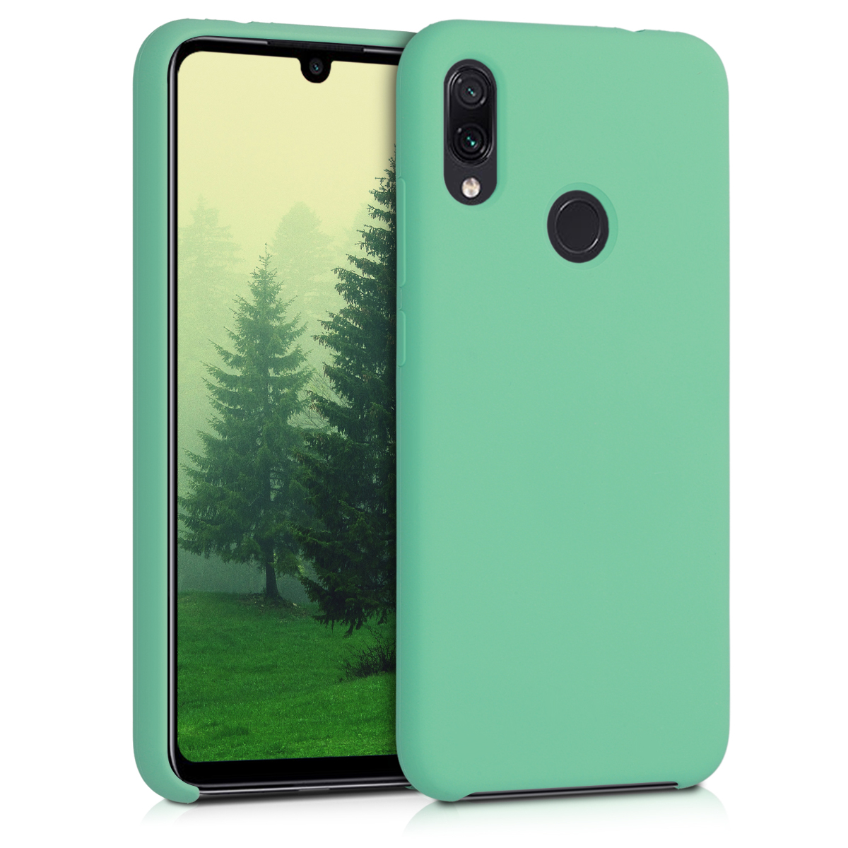 KW Θήκη Σιλικόνης Xiaomi Redmi Note 7 - Soft Flexible Rubber - Peppermint Green (48714.147)