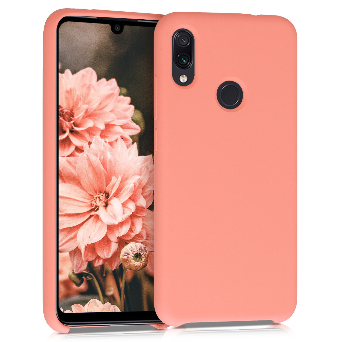 KW Θήκη Σιλικόνης Xiaomi Redmi Note 7 / Note 7 Pro - Soft Flexible Rubber Protective Cover  - Coral Matte (48714.56)