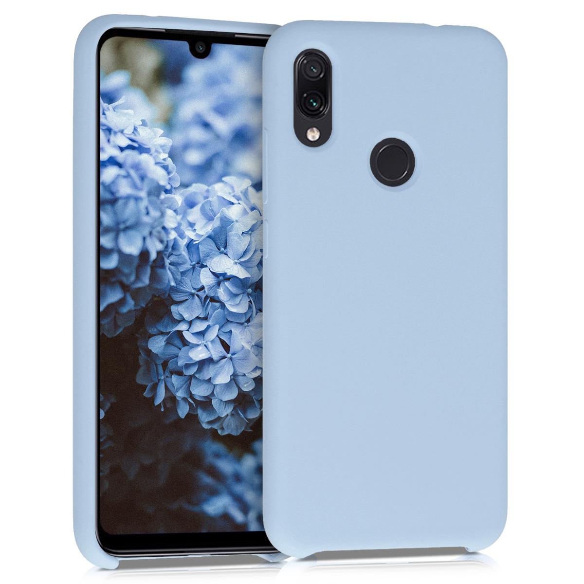 KW Θήκη Σιλικόνης Xiaomi Redmi Note 7 - Soft Flexible Rubber-  Light Blue Matte (48714.58)