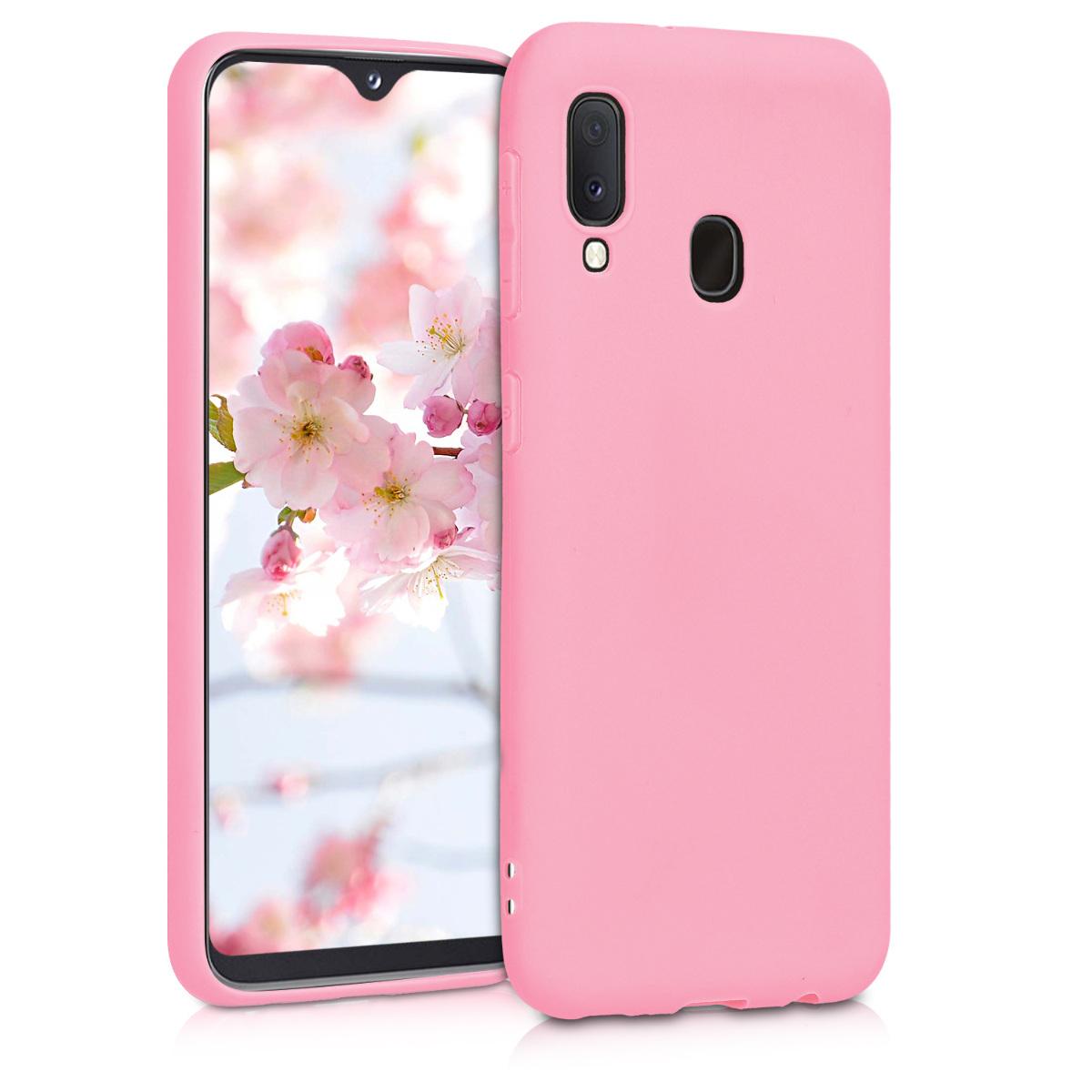 KW Θήκη Σιλικόνης Samsung Galaxy A20e - Light Pink Matte (48738.123)