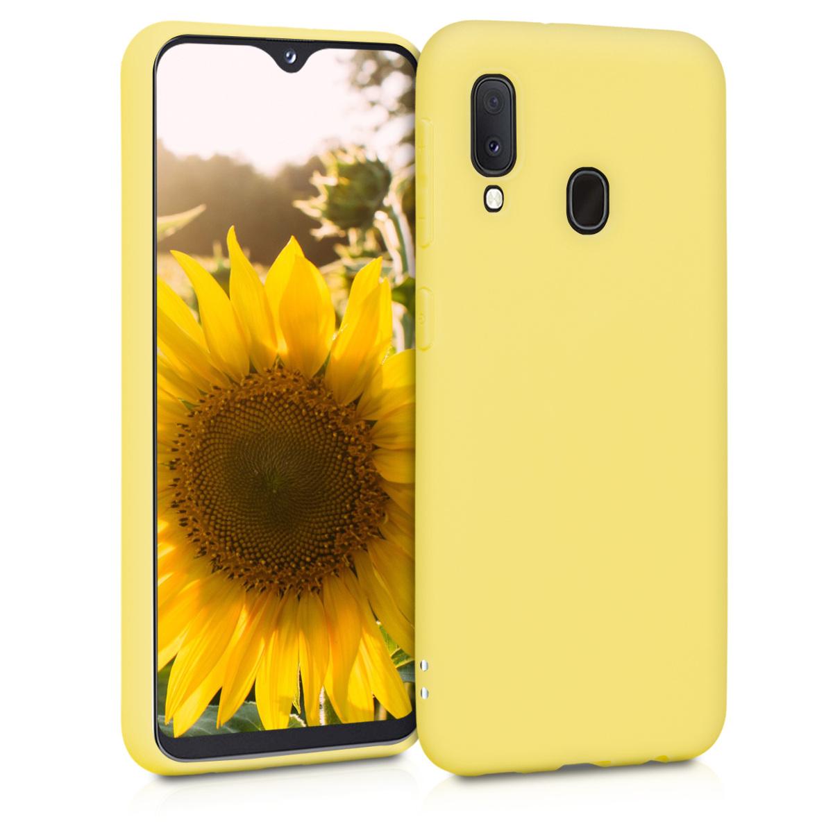 KW Θήκη Σιλικόνης Samsung Galaxy A20e - Yellow Matte (48738.49)