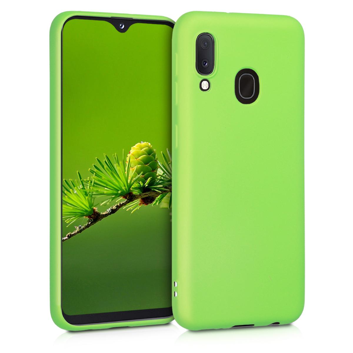 KW Θήκη Σιλικόνης Samsung Galaxy A20e - Metallic Light Green (48739.90)