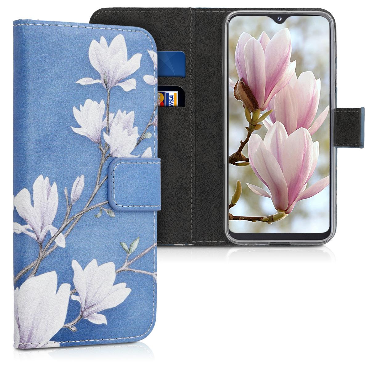 KW Θήκη Πορτοφόλι Samsung Galaxy A20e - Taupe / White / Blue Grey (48742.01)
