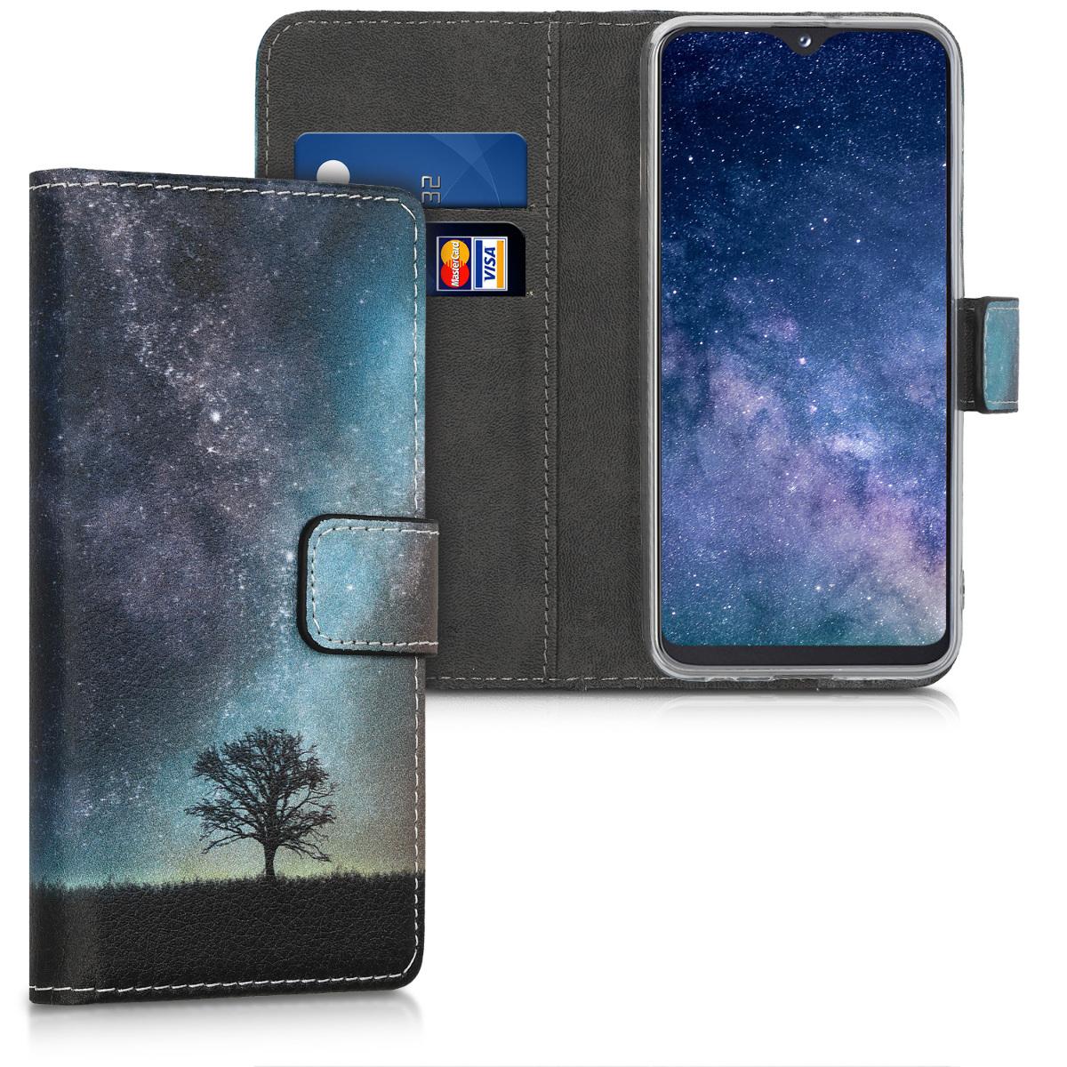 KW Θήκη - Πορτοφόλι Samsung Galaxy A20e - Blue / Grey / Black (48742.03 )