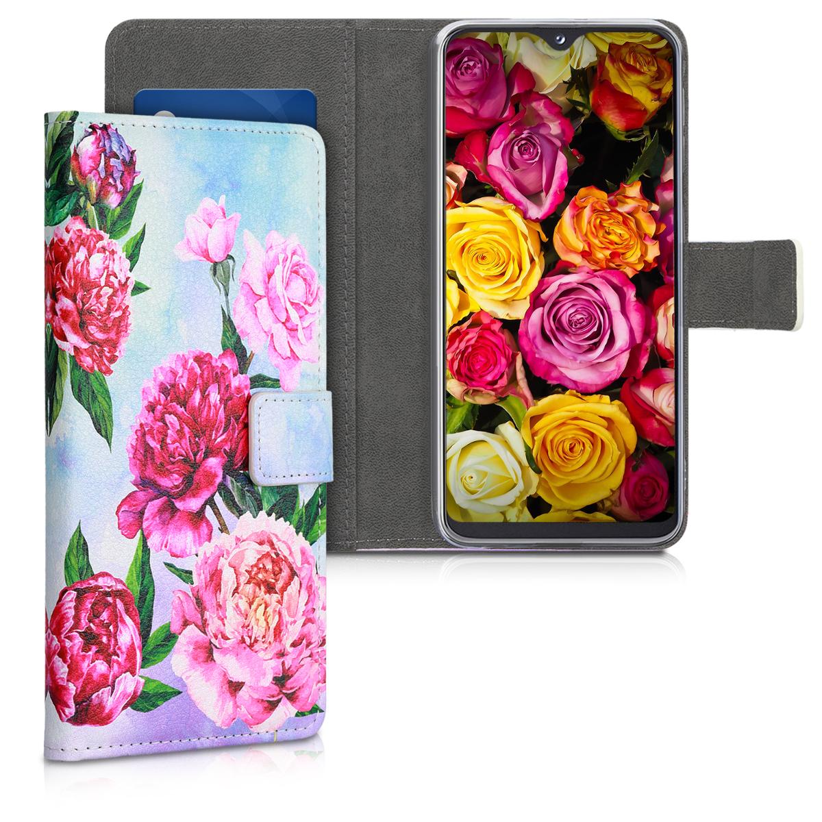 KW Θήκη - Πορτοφόλι Samsung Galaxy A20e - Violet / Light Pink / Light Blue (48742.10)