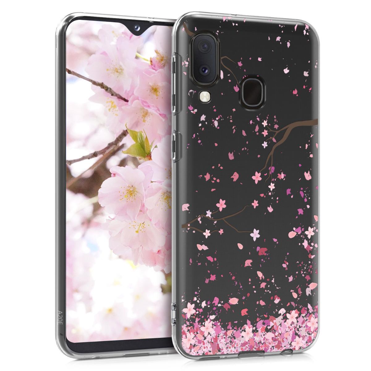 KW Θήκη Σιλικόνης Samsung Galaxy A20e - Crystal Clear - Light Pink / Dark Brown / Transparent (48743.06)
