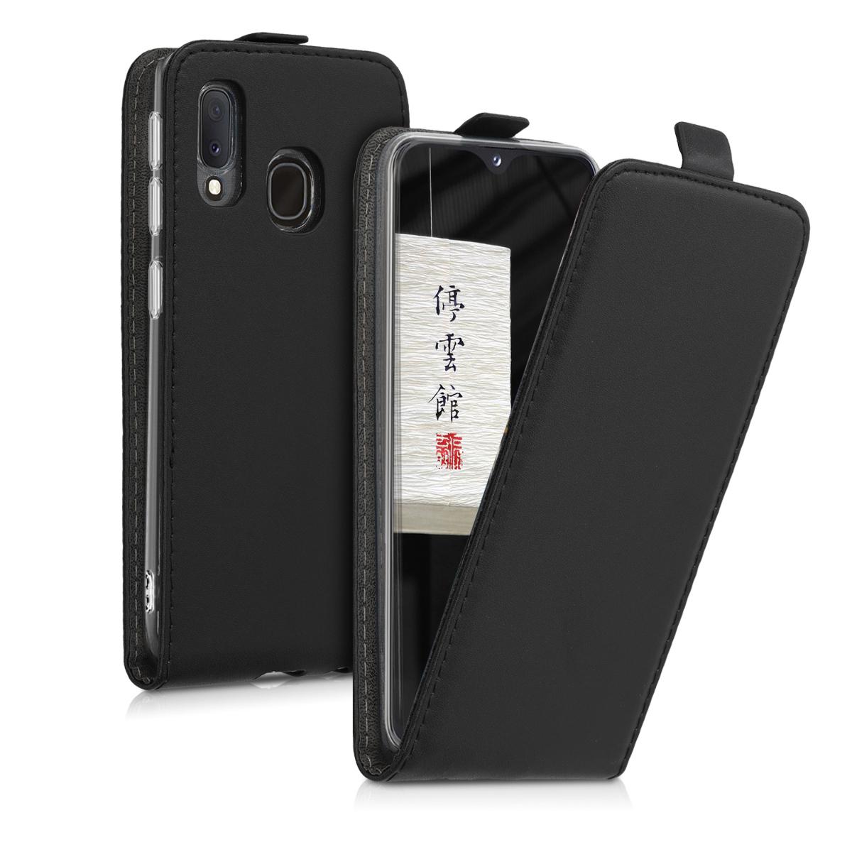 KW Flip Θήκη Samsung Galaxy A20e - Black (48752.01)