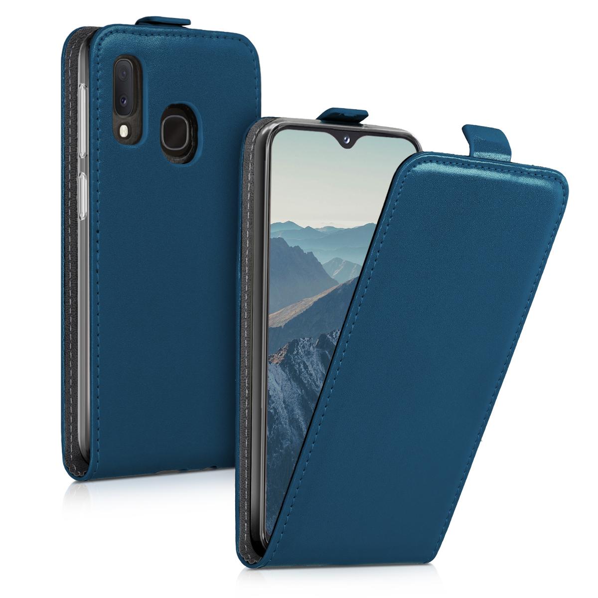 KW Flip Θήκη Samsung Galaxy A20e - Dark Blue (48752.17)