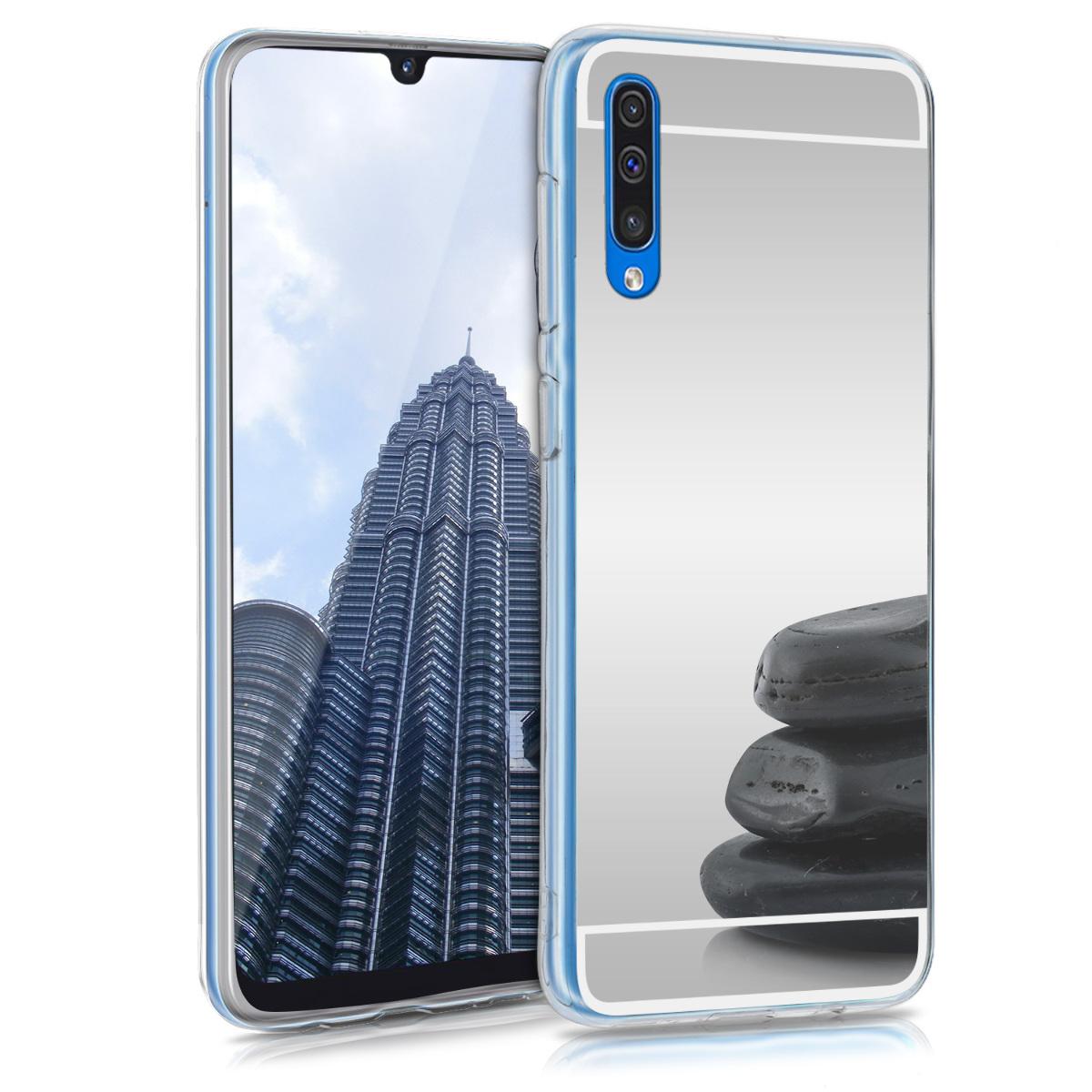 KW Θήκη Σιλικόνης (TPU) με Καθρέφτη Samsung Galaxy A50 - Silver Reflective (48753.42)