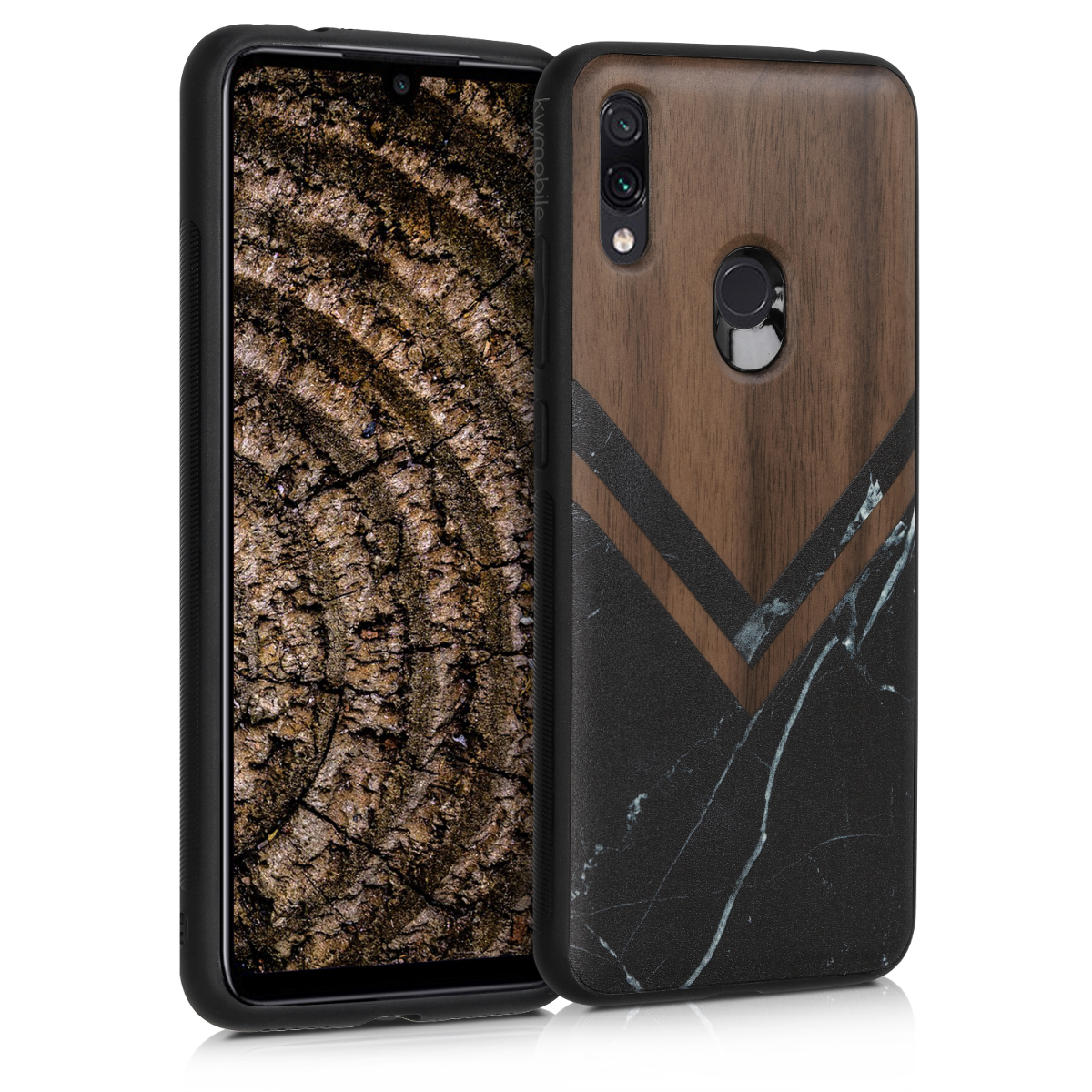 KW Σκληρή Ξύλινη Θήκη Xiaomi Redmi Note 7 / Note 7 Pro - Wood and Marble (48758.01)