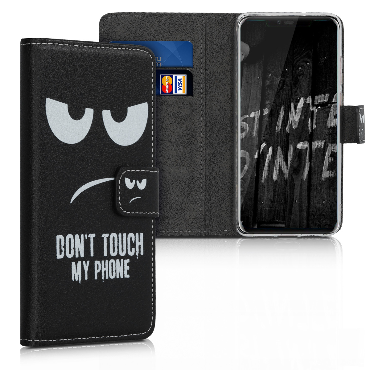 KW Θήκη Πορτοφόλι Huawei Mate 20 Pro - White / Black (48783.01)