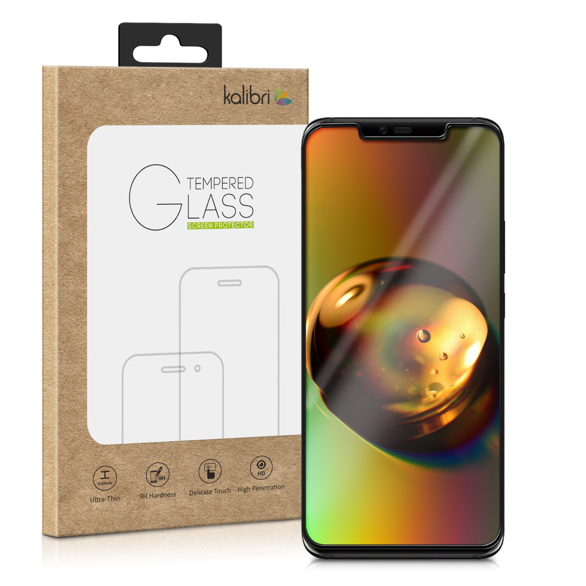 Kalibri Tempered Glass - Fullface Αντιχαρακτικό Γυαλί Οθόνης Huawei Mate 20 Pro - Black Frame (48812.01)
