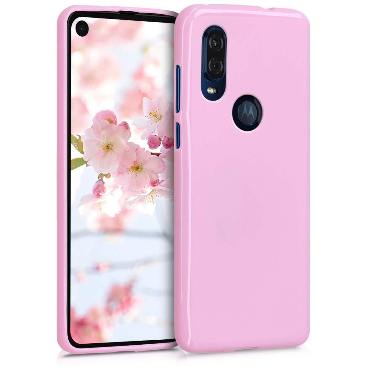 KW Θήκη Σιλικόνης Motorola One Vision - Dusty Pink (48852.10)