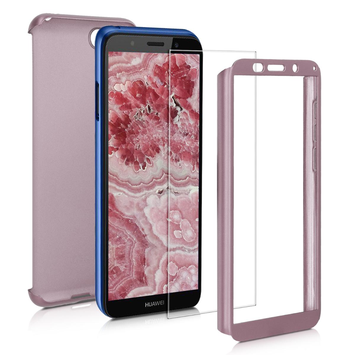 KW Θήκη Full Body Huawei Y5 / Y5 Prime 2018 & Tempered Glass - Metallic Rose Gold (48887.31)