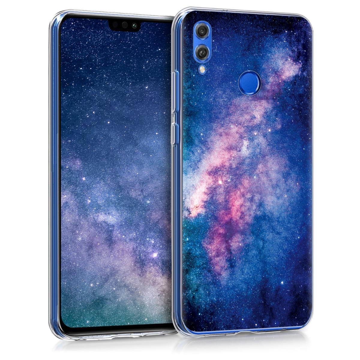 KW Θήκη Σιλικόνης Huawei Honor 8X - Light Pink / Dark Pink / Dark Blue (48927.03)