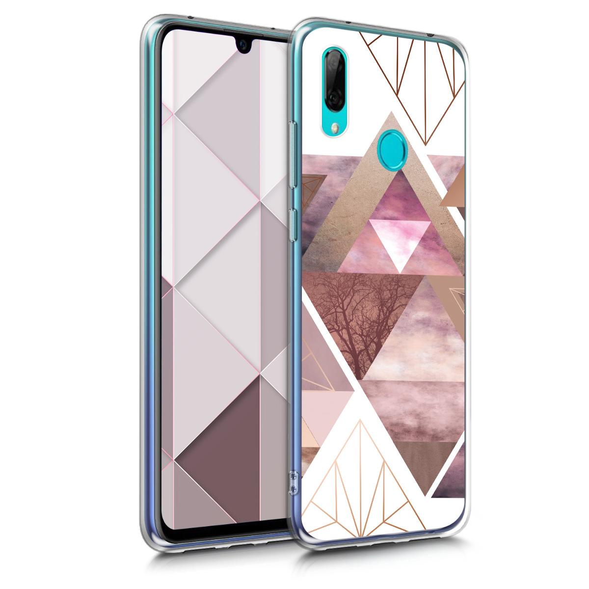 KW Θήκη Σιλικόνης Huawei Y7 / Y7 Prime 2019 - Light Pink / Rose Gold / White (48936.01)