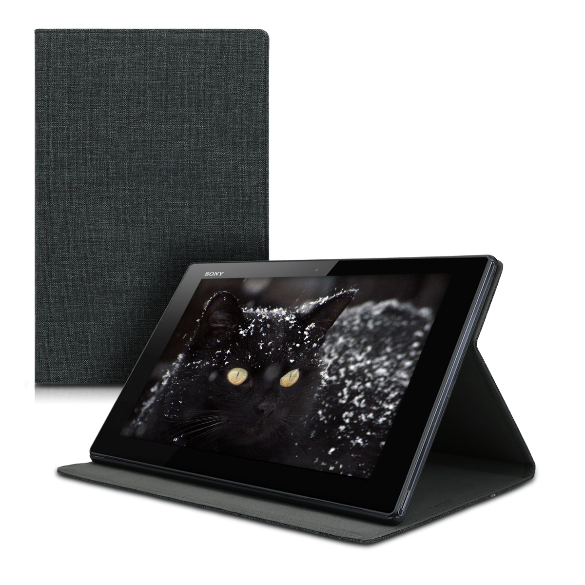 KW Θήκη Πορτοφόλι Sony Xperia Tablet Z4  - Dark Grey (49002.19)