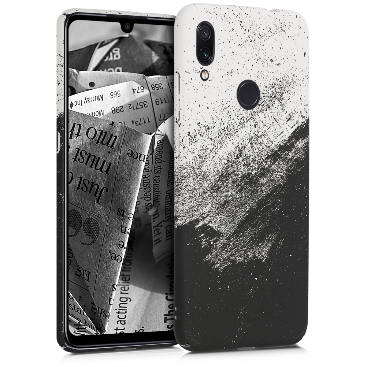 KW Σκληρή Θήκη Xiaomi Redmi Note 7 / Note 7 Pro - Black / White (49022.01)