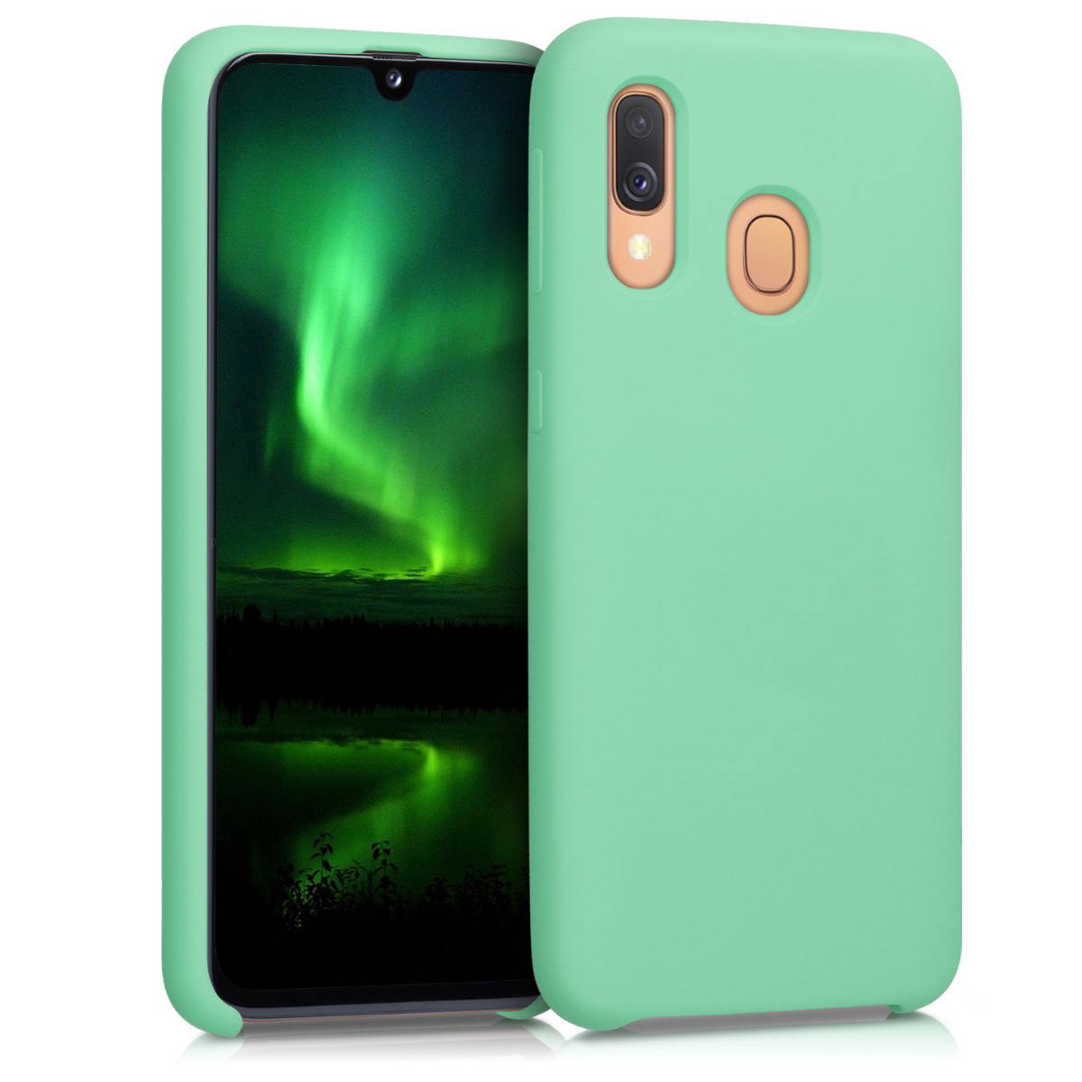 KW Θήκη Σιλικόνης Samsung Galaxy A40 - Soft Flexible Rubber - Peppermint Green (49091.147)